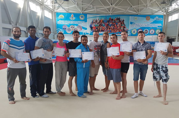 KAZ host camp for acrobatic coaches2017